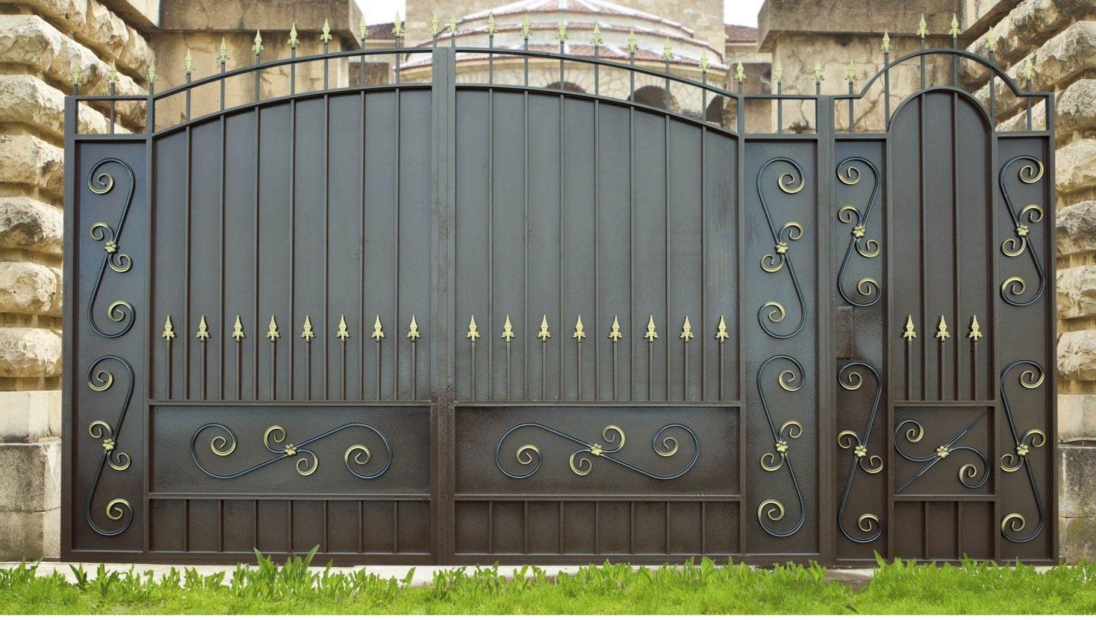 Железные ворота с узорами фото